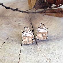 Náušnice - Muffin s čerešňou - 7725661_