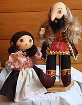 Renesancia. Dobové maňušky hradnej pani a pána.
