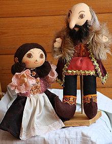 Bábiky - Renesancia. Dobové maňušky hradnej pani a pána. - 7724642_