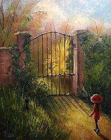 Obrazy - Tajemná záhrada - 7723417_