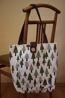 Nákupné tašky - Taška pro velké slečny, paní - Stromečková - 7725366_