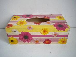Krabičky - Krabička na vreckovky - 7726460_