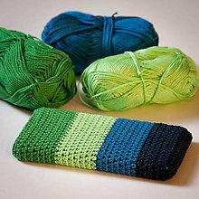 Na mobil - Obal na mobil - zeleno-modrý :) - 7724043_