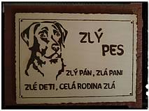 Tabuľky - pozor pes - 7724755_