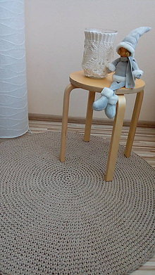 Úžitkový textil - Háčkovaný koberec - 100 % bavlna - ihneď k odberu - 7726491_