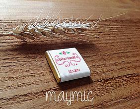 Darčeky pre svadobčanov - Svadobná čokoládka - 7723369_