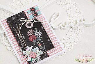 Papiernictvo - Scrapbooková pohľadnica XVII - 7728323_