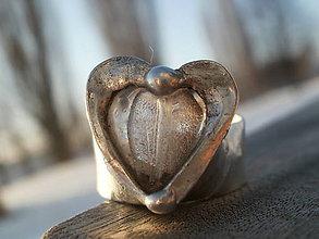 Prstene - Ľadové srdiečko  - tiffany - 7731022_