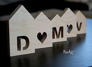 Dekorácie - Drevené domčeky DOMOV - 7730833_