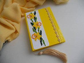 Papiernictvo - Prísľub jari (vyšívaný zápisník) - 7729427_