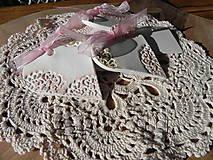 Darčeky pre svadobčanov - Svadobné magnetky s menovkami - púdrový dotyk ranného slniečka:-) - 7729778_