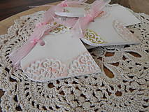 Darčeky pre svadobčanov - Svadobné magnetky s menovkami - púdrový dotyk ranného slniečka:-) - 7729784_