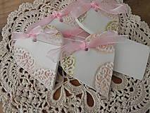 Darčeky pre svadobčanov - Svadobné magnetky s menovkami - púdrový dotyk ranného slniečka:-) - 7729788_