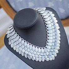 Náhrdelníky - Rostou mi dračí šupiny - stříbrný náhrdelník - 7727687_
