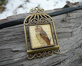Odznaky/Brošne - Brož Vintage Owl - 7727994_