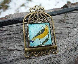 Odznaky/Brošne - Brož Vintage Bird - 7728024_