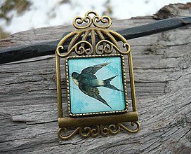 Odznaky/Brošne - Brož Vintage Lastovička - 7728030_