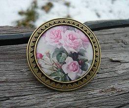 Odznaky/Brošne - Brož Romantic Roses - 7729845_