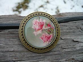 Odznaky/Brošne - Brož Vintage Roses - 7729871_
