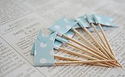 Dekorácie - Bodkované vlajočky/Candy bar - 7729691_
