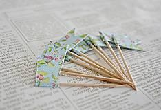 Dekorácie - Kvetinové vlajočky II/Candy bar - 7729746_