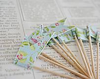 Dekorácie - Kvetinové vlajočky II/Candy bar - 7729749_
