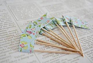 Dekorácie - Kvetinové vlajočky II/Candy bar - 7729747_