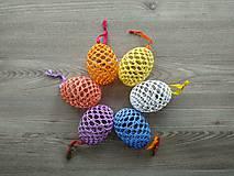 Háčkované vajíčka farebné IV.