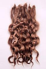 Materiál ručne robený - Vlasy pre bábiky - zlatý orech - 7729963_
