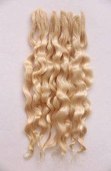 Materiál ručne robený - Vlasy pre bábiky - biskvit - 7729920_