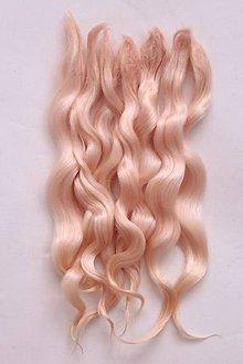 Materiál ručne robený - Vlasy pre bábiky - žltý melón - 7729943_