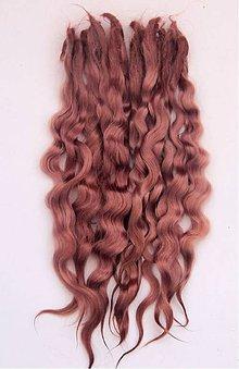 Materiál ručne robený - Vlasy pre bábiky - koňak - 7729957_