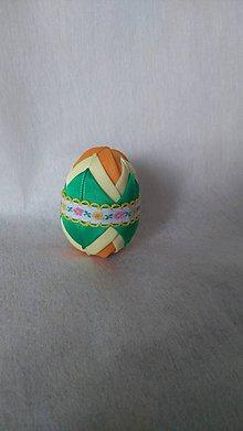Dekorácie - Veľkonočné patchworkové vajíčko_10 - 7727573_