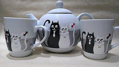Nádoby - Svadobné sada mačičky - 7727616_