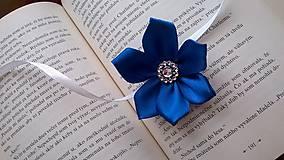 Pierka - Kráľovsky modrý náramok pre družičku - 7728732_