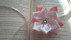 Pierka - Svadobný náramok ružový veľký - 7729885_