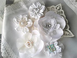 Drobnosti - Saténové kvety - 7727964_