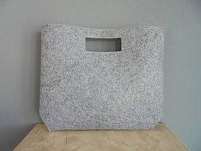 Kabelky - Filcová kabelka do ruky - 7729306_