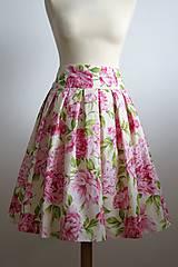 ružová sukňa Pivonka