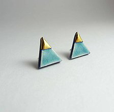 Náušnice - Tana šperky - keramika/zlato - 7730458_