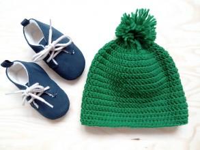 Čiapky - Zelená čiapočka - 7728403_