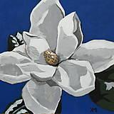 Obrazy - Magnólia,Biela Magnólia,Kvety,Obraz - 7730888_
