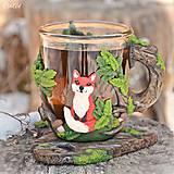 Nádoby - Čaj v lese - hrnček na čaj s líškou - 7729297_