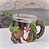 Nádoby - Čaj v lese - hrnček na čaj s líškou - 7729300_