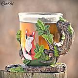 Nádoby - Čaj v lese - hrnček na čaj s líškou - 7729302_