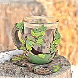 Nádoby - Čaj v lese - hrnček na čaj s líškou - 7729328_