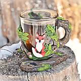 Nádoby - Čaj v lese - hrnček na čaj s líškou - 7729329_