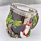 Nádoby - Čaj v lese - hrnček na čaj s líškou - 7729330_