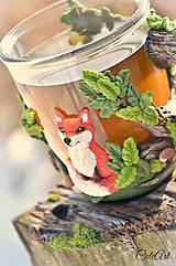 Nádoby - Čaj v lese - hrnček na čaj s líškou - 7729338_