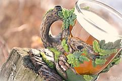 Nádoby - Čaj v lese - hrnček na čaj s líškou - 7729339_